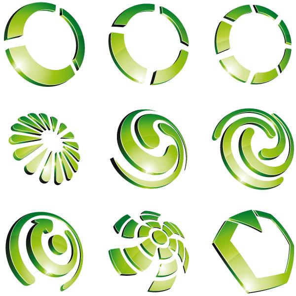 Green 3d Logo Design Vector 02 Vector Logo Free Download