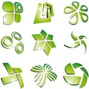 Link toGreen 3d logo design vector 05