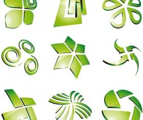 Green 3D logo design vector 05