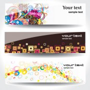 Link toSet of different abstract banners design vector 03