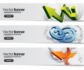 Vector Banner arrow design set 01