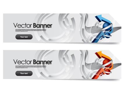 Vector Banner arrow design set 02