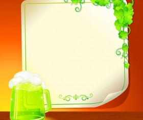 Set of Beer and Paper Poster vector graphic 01