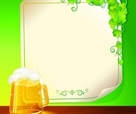 Set of Beer and Paper Poster vector graphic 02