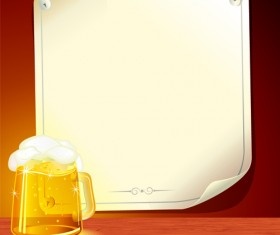 Set of Beer and Paper Poster vector graphic 03