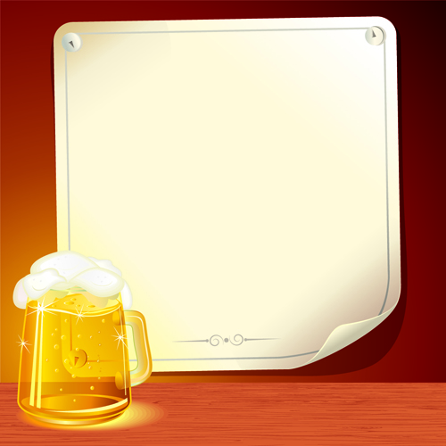 Set of Beer and Paper Poster vector graphic 03 - Vector Background ...