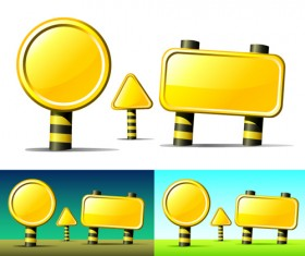 Set of commonly Billboard vector material 04