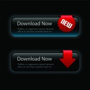 Link toSet of black texture web button vector graphics 01