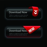 Link toSet of black texture web button vector graphics 03