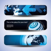 Link toBlue concept banner vector graphic set 02