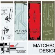 Set of bookmarks design elements vector 01
