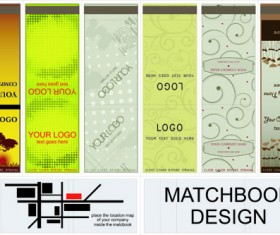 Set of Bookmarks design elements vector 02