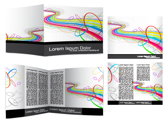 Cover Template flyer and brochure design vector 04