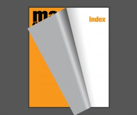 Cover template Brochure and magazine elements vector 03