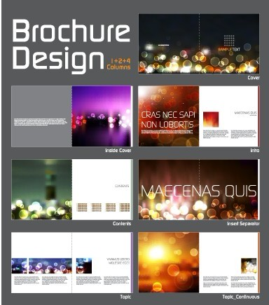 Cover template Brochure and magazine elements vector 04