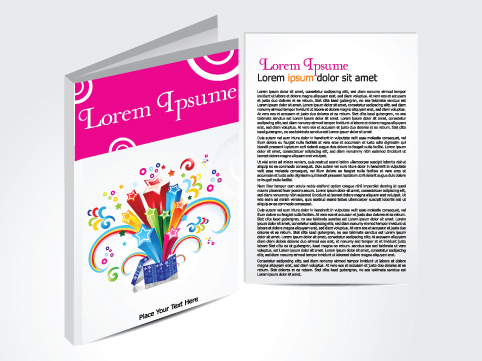 Cover template Brochure and magazine elements vector 05
