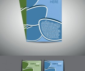 Abstract Business flyer cover template vector 02