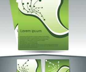 Abstract Business flyer cover template vector 03