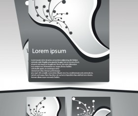 Abstract Business flyer cover template vector 04