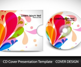 Abstract CD Cover Presentation Design vector 01
