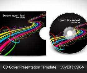 Abstract CD Cover Presentation Design vector 02