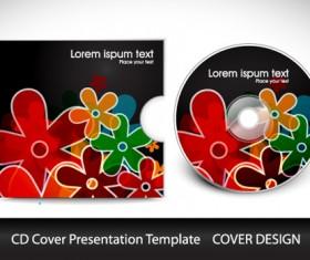 Abstract CD Cover Presentation Design vector 03