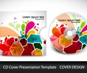 Abstract CD Cover Presentation Design vector 04