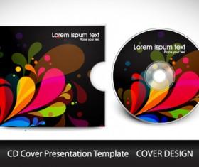 Abstract CD Cover Presentation Design vector 05