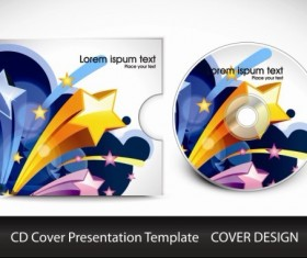CD cover presentation vector template material 01