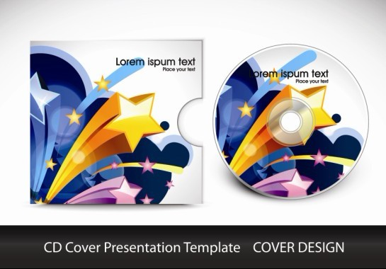 cd cover presentation vector template material 01 - vector cover, Presentation templates
