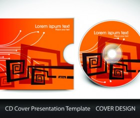 CD cover presentation vector template material 02