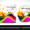 CD cover presentation vector template material 03