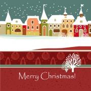 Link toCartoon christmas house and snow vector 04