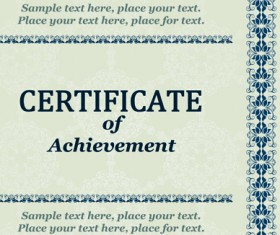 Vector Templates of certificates design set 07