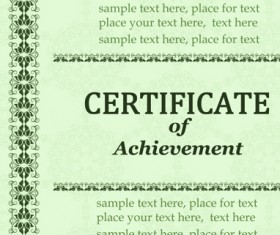 Vector Templates of certificates design set 08