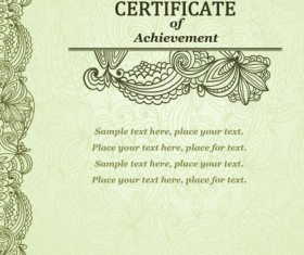 Vector Templates of certificates design set 09