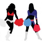Link toSet of cheerleaders vector silhouettes 03