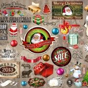 Link toChristmas ornaments collection vector graphics 01