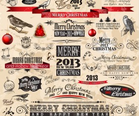Christmas Ornaments collection vector graphics 02
