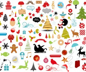 Christmas Ornaments collection vector graphics 03