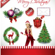 Link toChristmas ornaments collection vector graphics 04