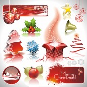 Link toChristmas ornaments collection vector graphics 05