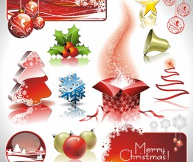Christmas Ornaments collection vector graphics 05