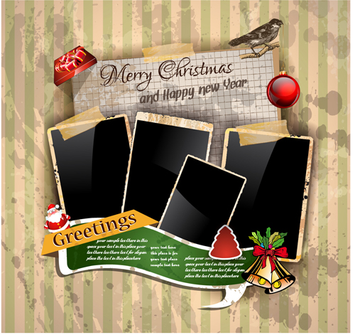 photo greeting cards templates - Free Christmas Card Templates For Photoshop