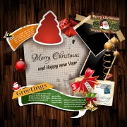 Link toChristmas greetings cards vector template 02