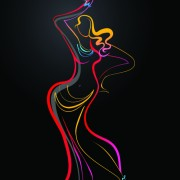 Link toColored in woman dance design vector 03