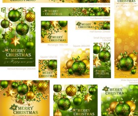 Colored xmas design decor vector material 01