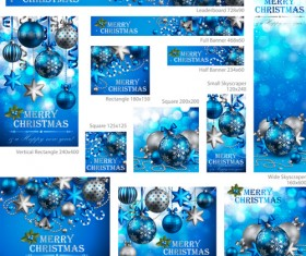 Colored xmas design decor vector material 05