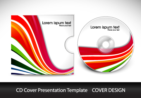 Colorful CD Cover presentation elements vector set 01