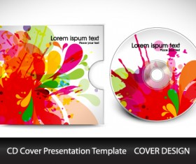 Colorful CD Cover presentation elements vector set 02